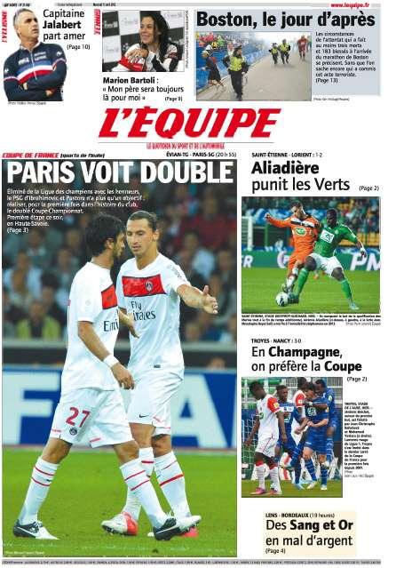 Le Parisien Mercredi 17 Avril 2013