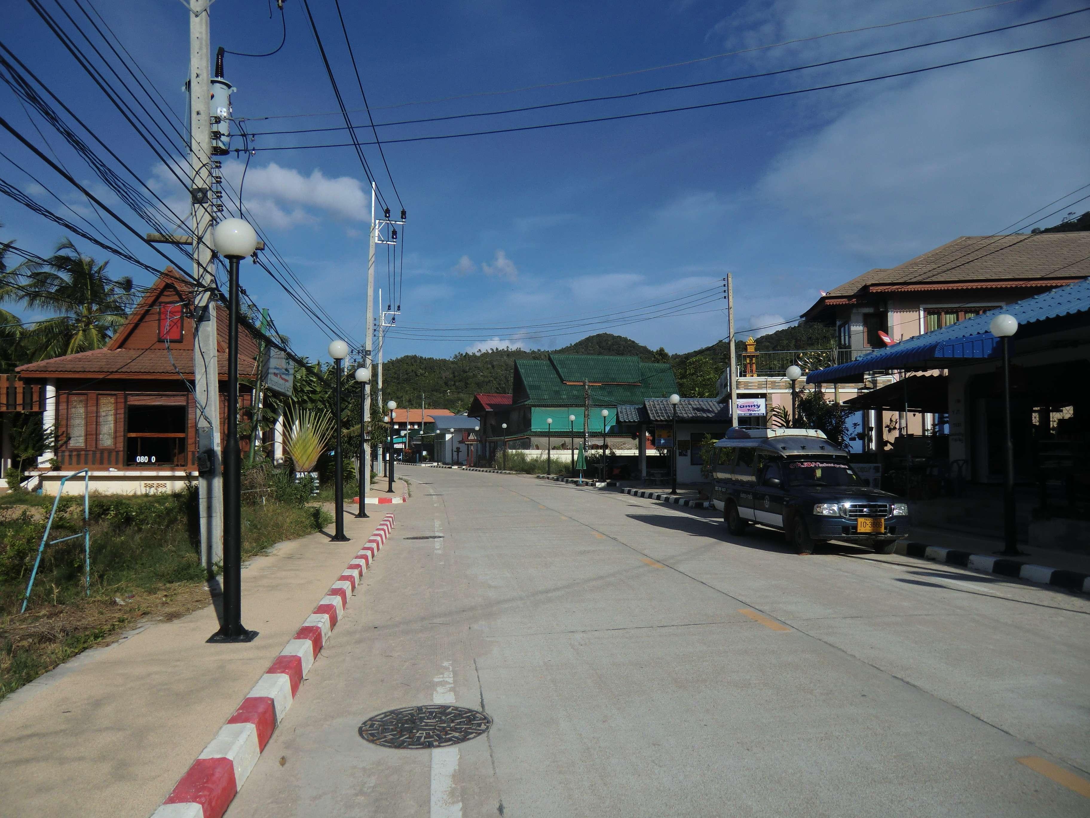 ausgestorbene Hauptstraße