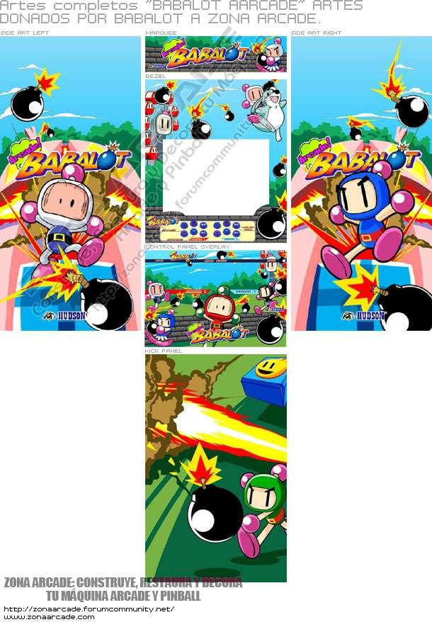 """Artes Completos """"Bomberman - Arcade Babalot"""""""
