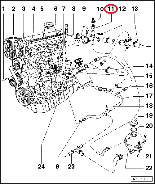Thermostaat Vervangen T146204 on 2000 Vw Jetta Engine Diagram