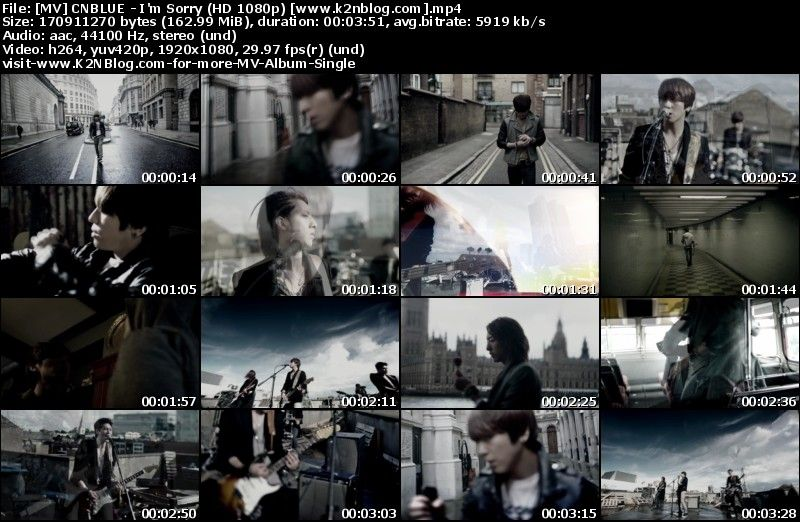 [MV] CNBLUE - I'm Sorry (HD 1080p Youtube)